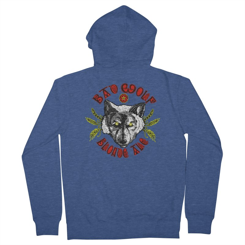 Bad Wolf Blonde Ale Men's Zip-Up Hoody by Magickal Vision: The Art of Jolie E. Bonnette