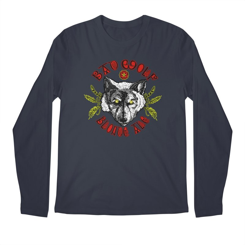 Bad Wolf Blonde Ale Men's Regular Longsleeve T-Shirt by Magickal Vision: The Art of Jolie E. Bonnette