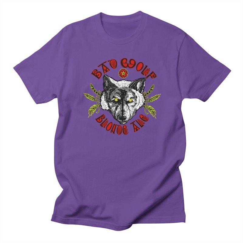 Bad Wolf Blonde Ale Men's Regular T-Shirt by Magickal Vision: The Art of Jolie E. Bonnette