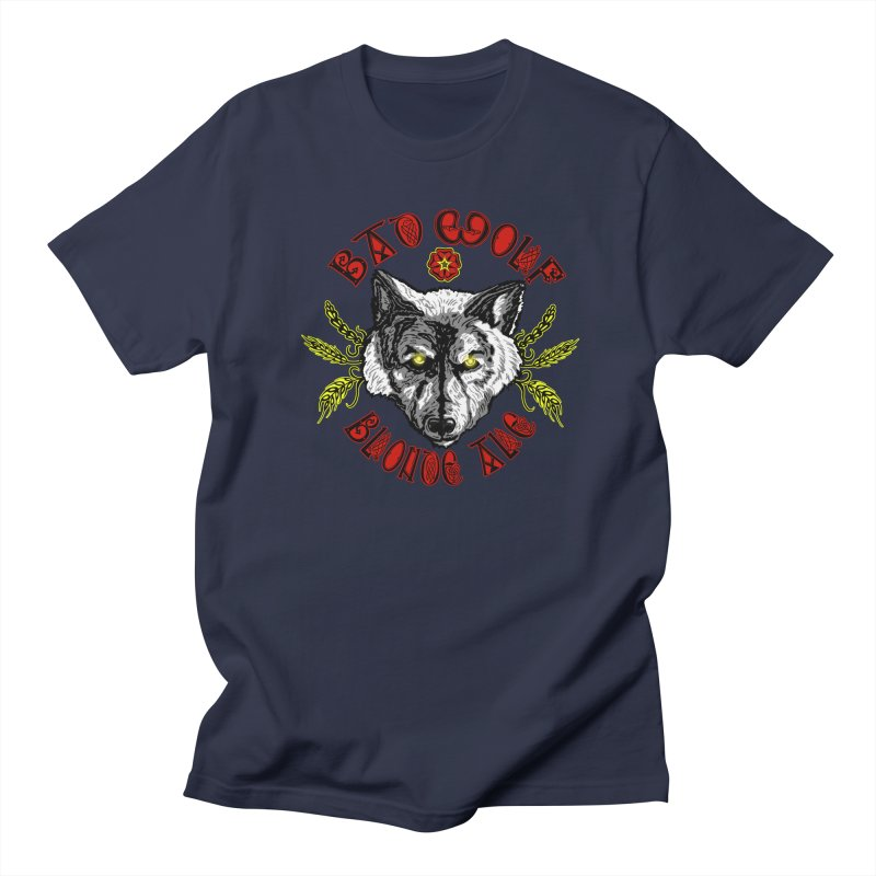 Bad Wolf Blonde Ale Men's T-Shirt by Magickal Vision: The Art of Jolie E. Bonnette