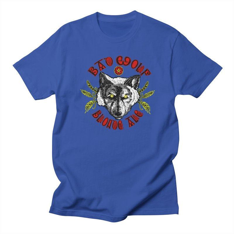 Bad Wolf Blonde Ale Men's Regular T-Shirt by Magickal Vision: The Art of Jolie E. Bonnette