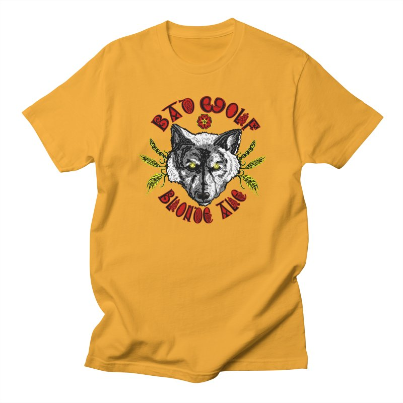 Bad Wolf Blonde Ale Men's T-shirt by Magickal Vision: The Art of Jolie E. Bonnette