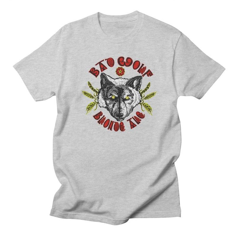 Bad Wolf Blonde Ale Women's Regular Unisex T-Shirt by Magickal Vision: The Art of Jolie E. Bonnette
