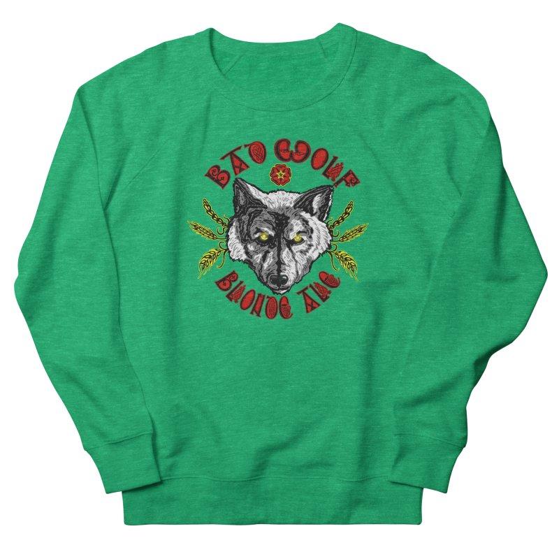Bad Wolf Blonde Ale Men's French Terry Sweatshirt by Magickal Vision: The Art of Jolie E. Bonnette