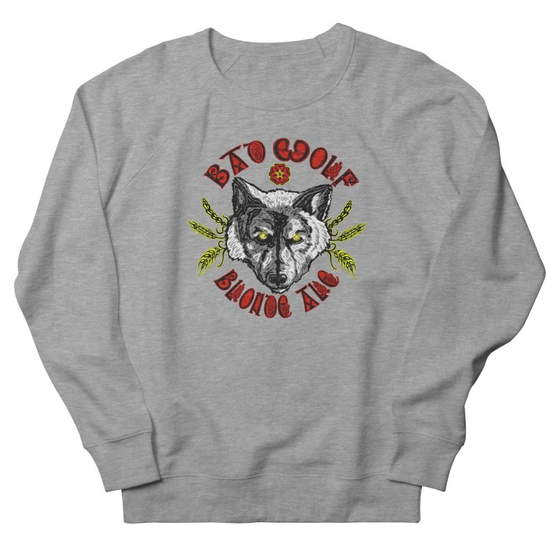 Bad Wolf Blonde Ale Men's French Terry Sweatshirt by Magickal Vision: The Art of Jolie E. Bonnette