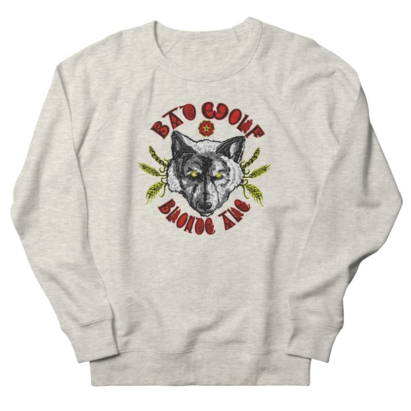 Bad Wolf Blonde Ale Men's Sweatshirt by Magickal Vision: The Art of Jolie E. Bonnette