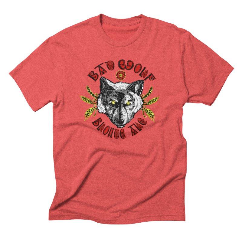 Bad Wolf Blonde Ale Men's Triblend T-Shirt by Magickal Vision: The Art of Jolie E. Bonnette