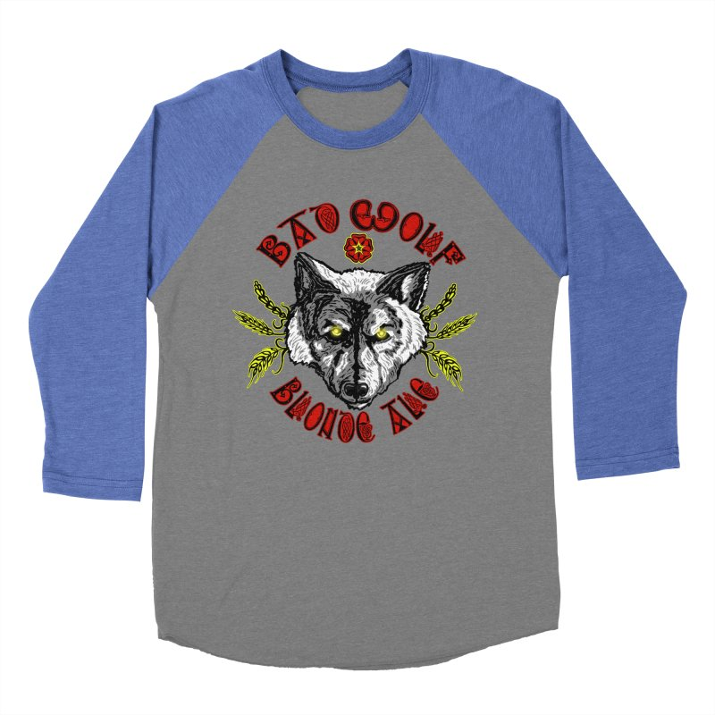 Bad Wolf Blonde Ale Women's Baseball Triblend Longsleeve T-Shirt by Magickal Vision: The Art of Jolie E. Bonnette
