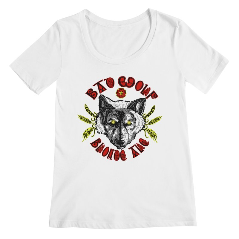 Bad Wolf Blonde Ale Women's Regular Scoop Neck by Magickal Vision: The Art of Jolie E. Bonnette
