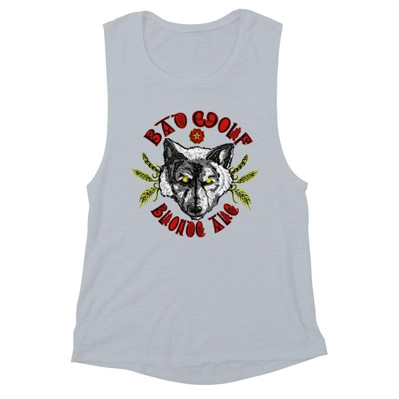 Bad Wolf Blonde Ale Women's Muscle Tank by Magickal Vision: The Art of Jolie E. Bonnette