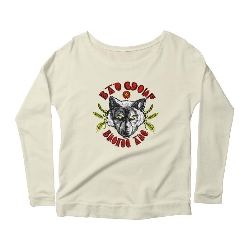 Bad Wolf Blonde Ale Women's Longsleeve Scoopneck  by Magickal Vision: The Art of Jolie E. Bonnette