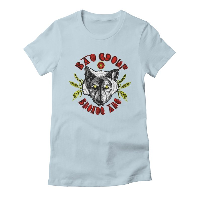 Bad Wolf Blonde Ale Women's Fitted T-Shirt by Magickal Vision: The Art of Jolie E. Bonnette
