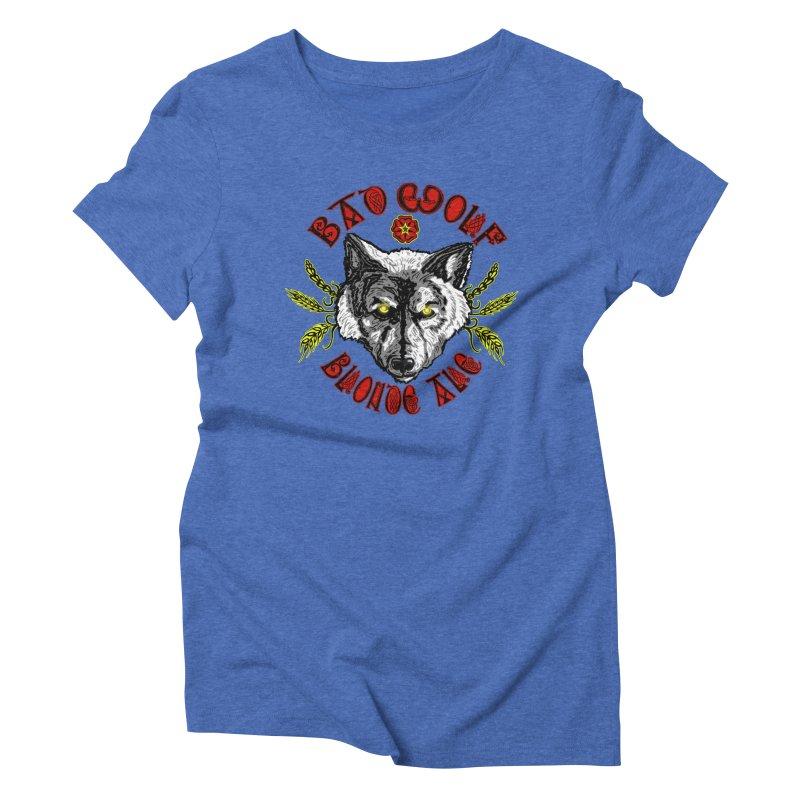 Bad Wolf Blonde Ale Women's Triblend T-shirt by Magickal Vision: The Art of Jolie E. Bonnette