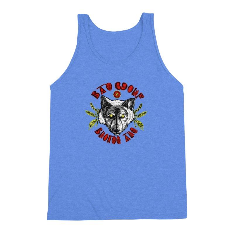 Bad Wolf Blonde Ale Men's Triblend Tank by Magickal Vision: The Art of Jolie E. Bonnette
