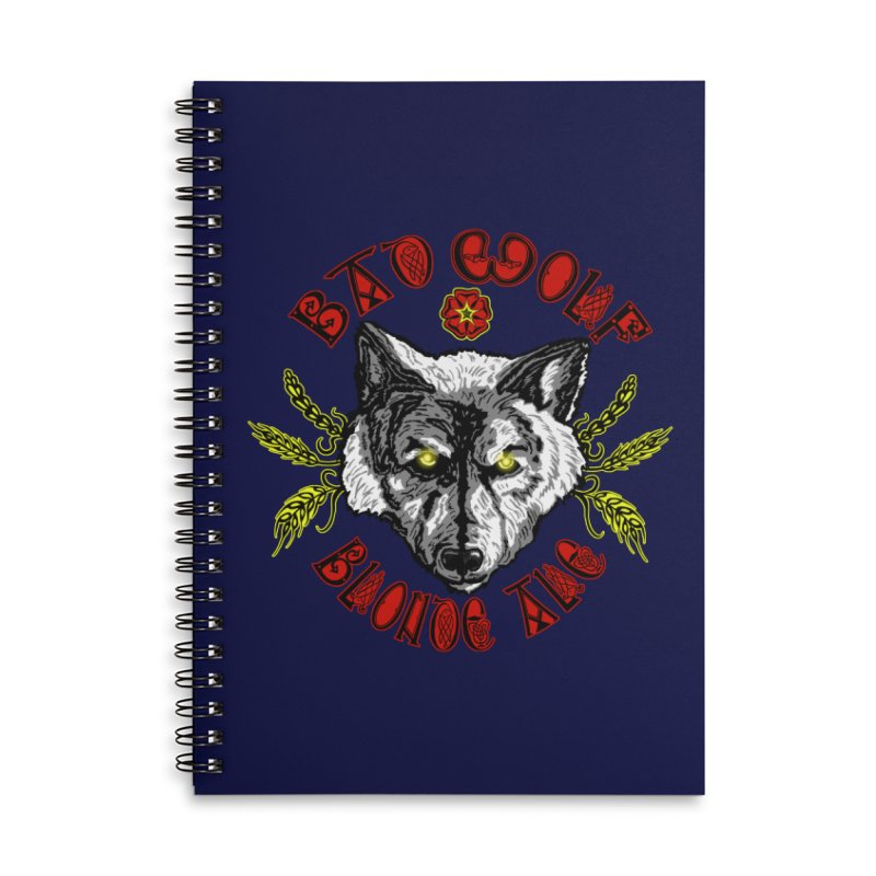 Bad Wolf Blonde Ale Accessories Lined Spiral Notebook by Magickal Vision: The Art of Jolie E. Bonnette