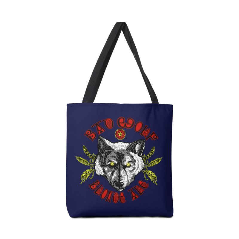 Bad Wolf Blonde Ale Accessories Tote Bag Bag by Magickal Vision: The Art of Jolie E. Bonnette