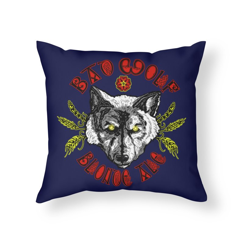 Bad Wolf Blonde Ale Home Throw Pillow by Magickal Vision: The Art of Jolie E. Bonnette