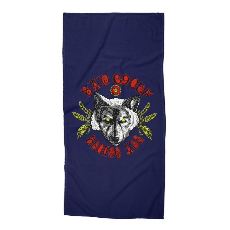 Bad Wolf Blonde Ale Accessories Beach Towel by Magickal Vision: The Art of Jolie E. Bonnette