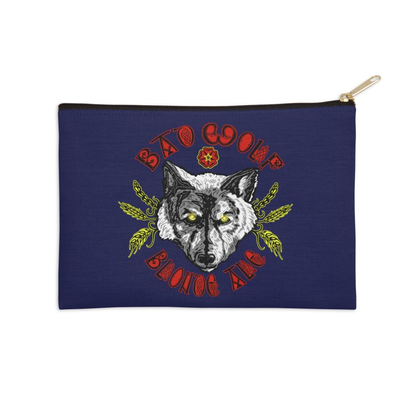 Bad Wolf Blonde Ale Accessories Zip Pouch by Magickal Vision: The Art of Jolie E. Bonnette