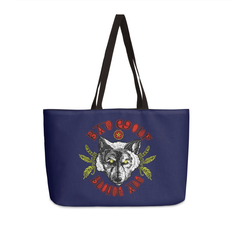 Bad Wolf Blonde Ale Accessories Weekender Bag Bag by Magickal Vision: The Art of Jolie E. Bonnette