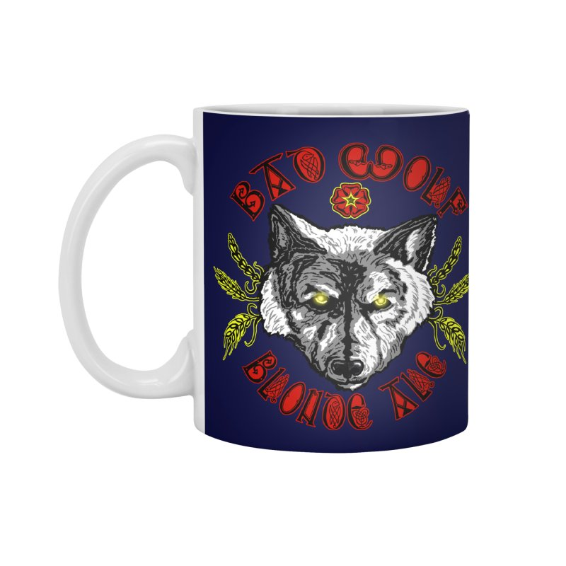 Bad Wolf Blonde Ale Accessories Standard Mug by Magickal Vision: The Art of Jolie E. Bonnette