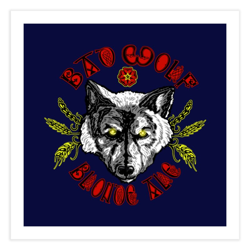 Bad Wolf Blonde Ale Home Fine Art Print by Magickal Vision: The Art of Jolie E. Bonnette