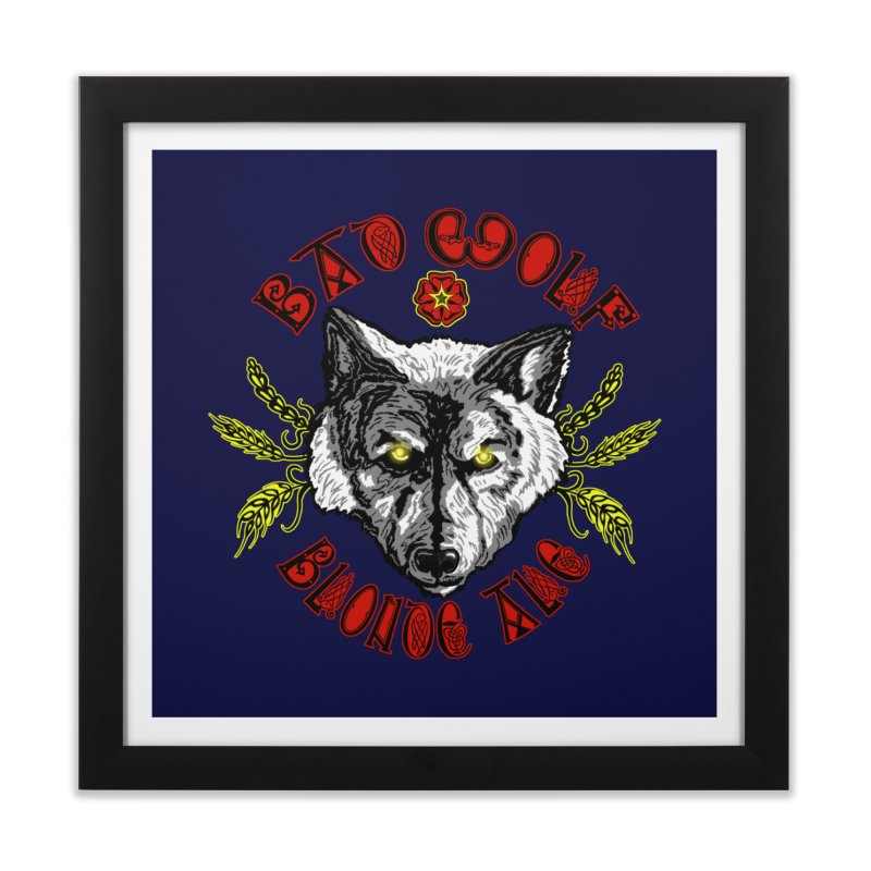 Bad Wolf Blonde Ale Home Framed Fine Art Print by Magickal Vision: The Art of Jolie E. Bonnette