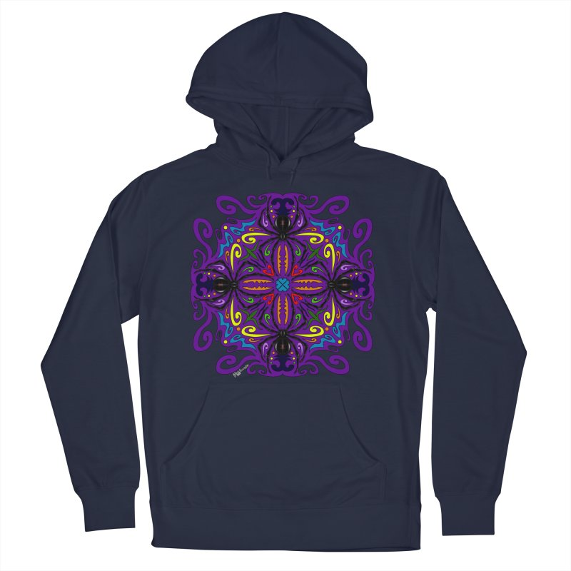 Arachnophobia Men's French Terry Pullover Hoody by Magickal Vision: The Art of Jolie E. Bonnette