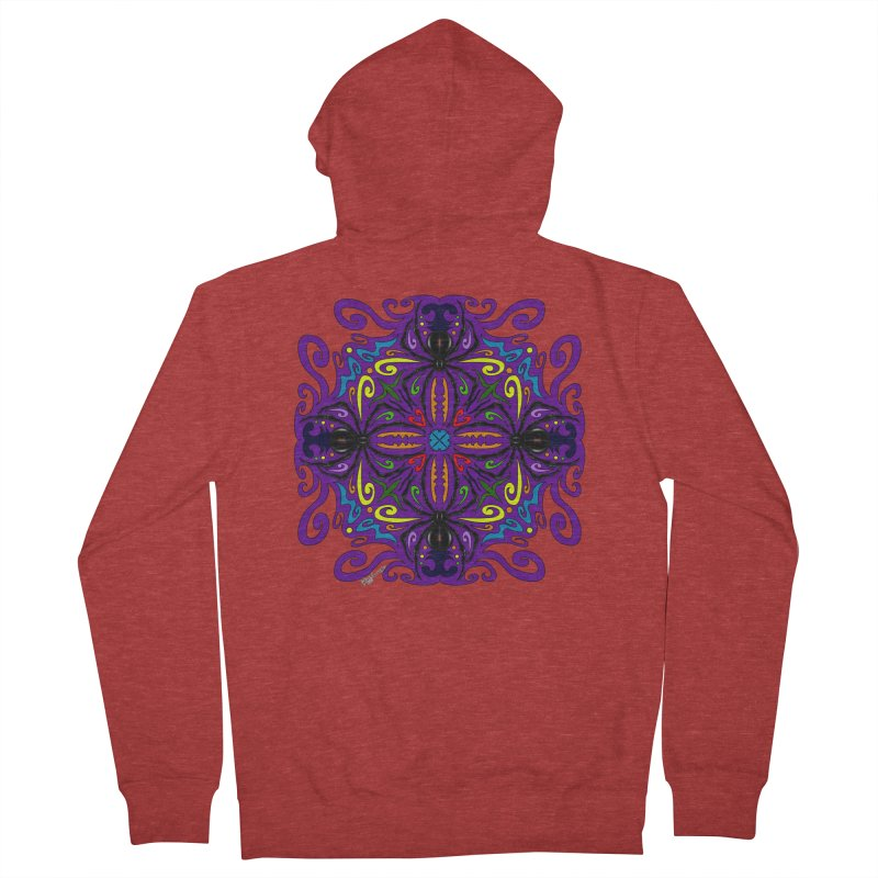 Arachnophobia Women's French Terry Zip-Up Hoody by Magickal Vision: The Art of Jolie E. Bonnette