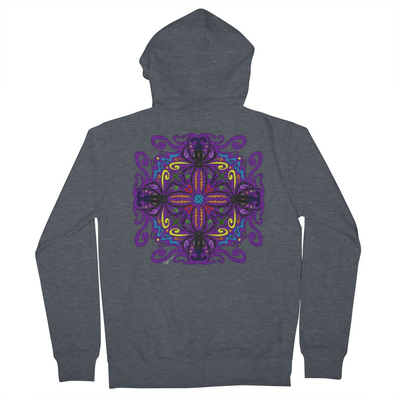 Arachnophobia Men's French Terry Zip-Up Hoody by Magickal Vision: The Art of Jolie E. Bonnette