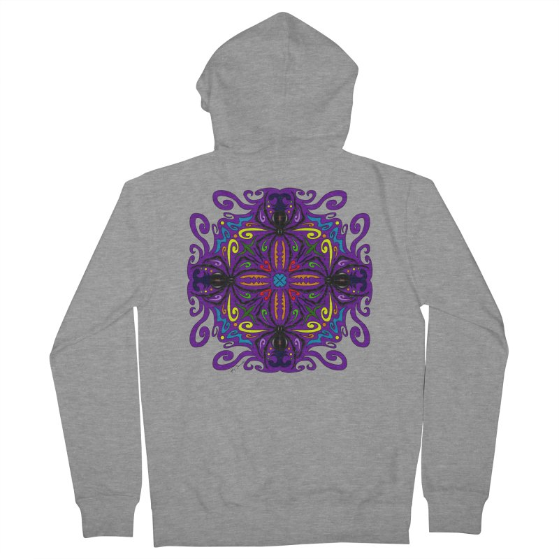 Arachnophobia Men's Zip-Up Hoody by Magickal Vision: The Art of Jolie E. Bonnette