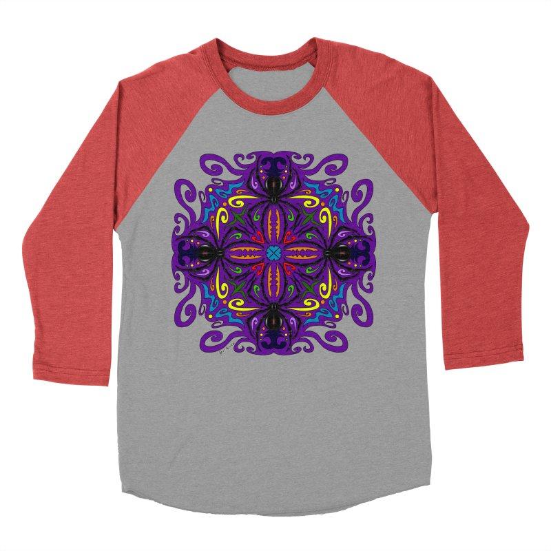 Arachnophobia Women's Baseball Triblend T-Shirt by Magickal Vision: The Art of Jolie E. Bonnette