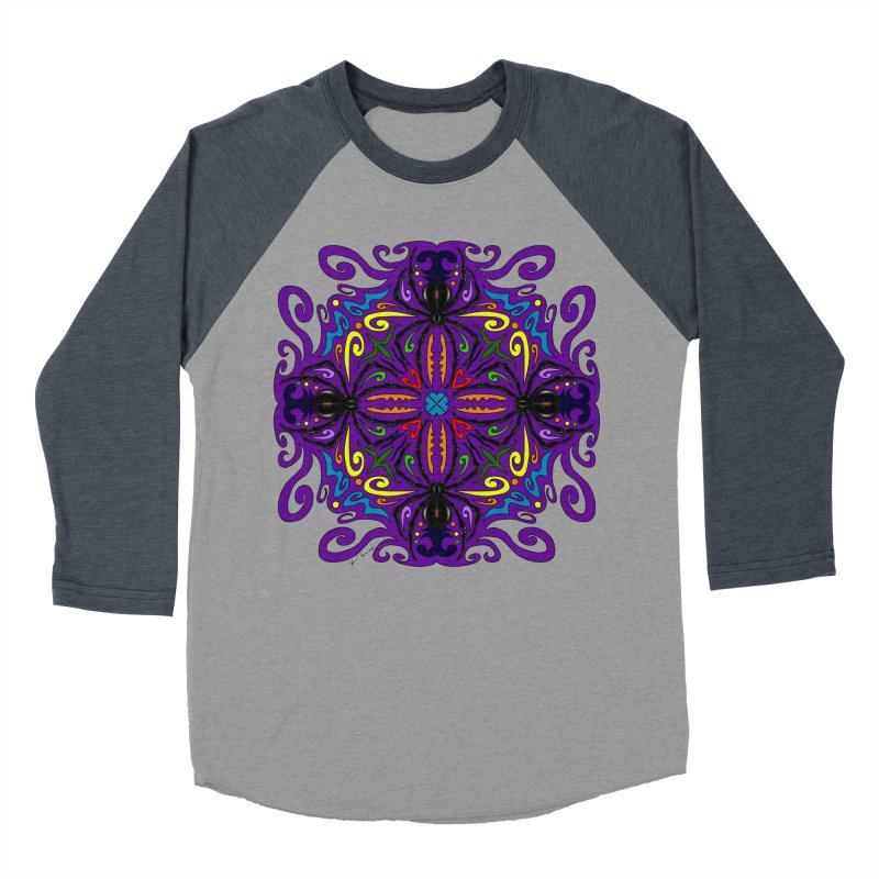 Arachnophobia Women's Baseball Triblend Longsleeve T-Shirt by Magickal Vision: The Art of Jolie E. Bonnette