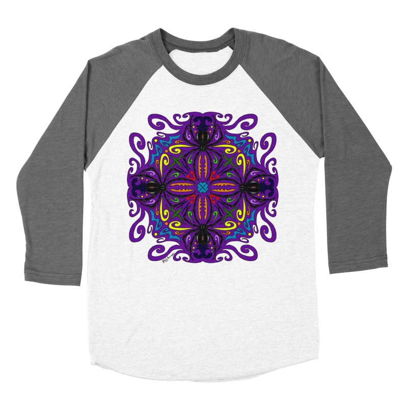 Arachnophobia Men's Baseball Triblend Longsleeve T-Shirt by Magickal Vision: The Art of Jolie E. Bonnette