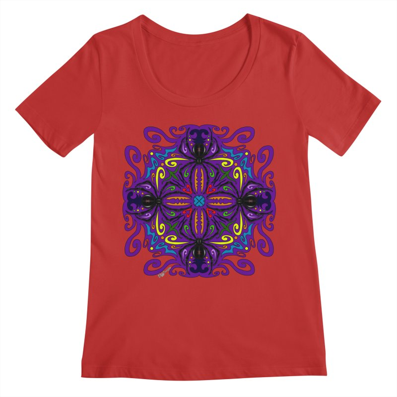 Arachnophobia Women's Regular Scoop Neck by Magickal Vision: The Art of Jolie E. Bonnette