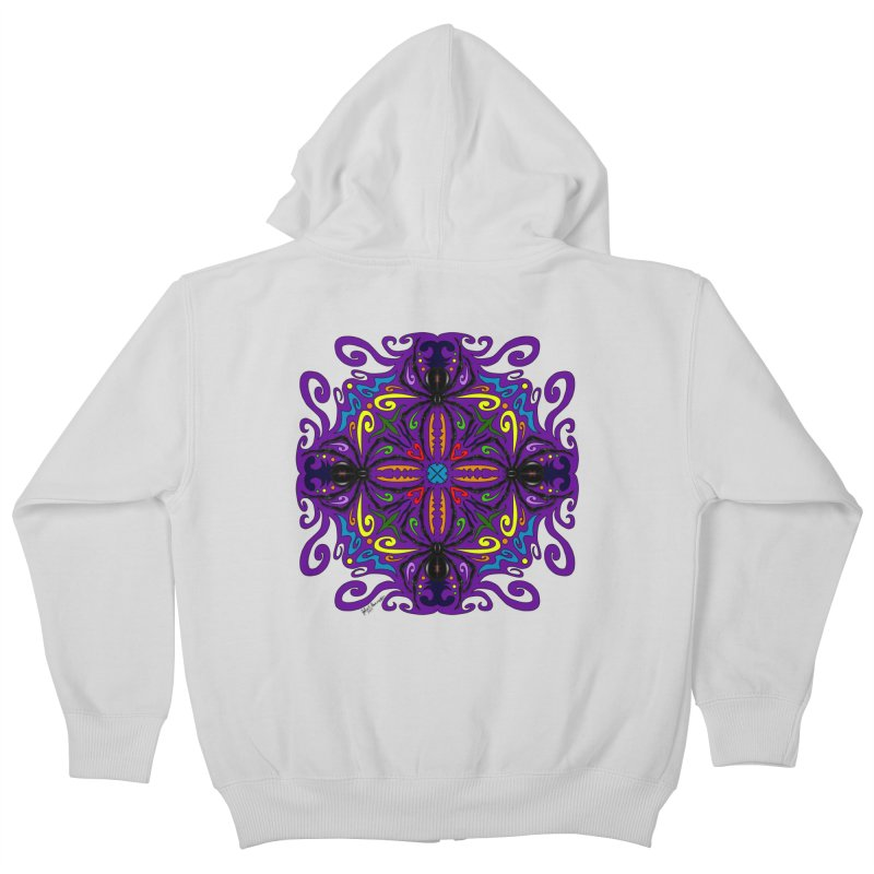 Arachnophobia Kids Zip-Up Hoody by Magickal Vision: The Art of Jolie E. Bonnette