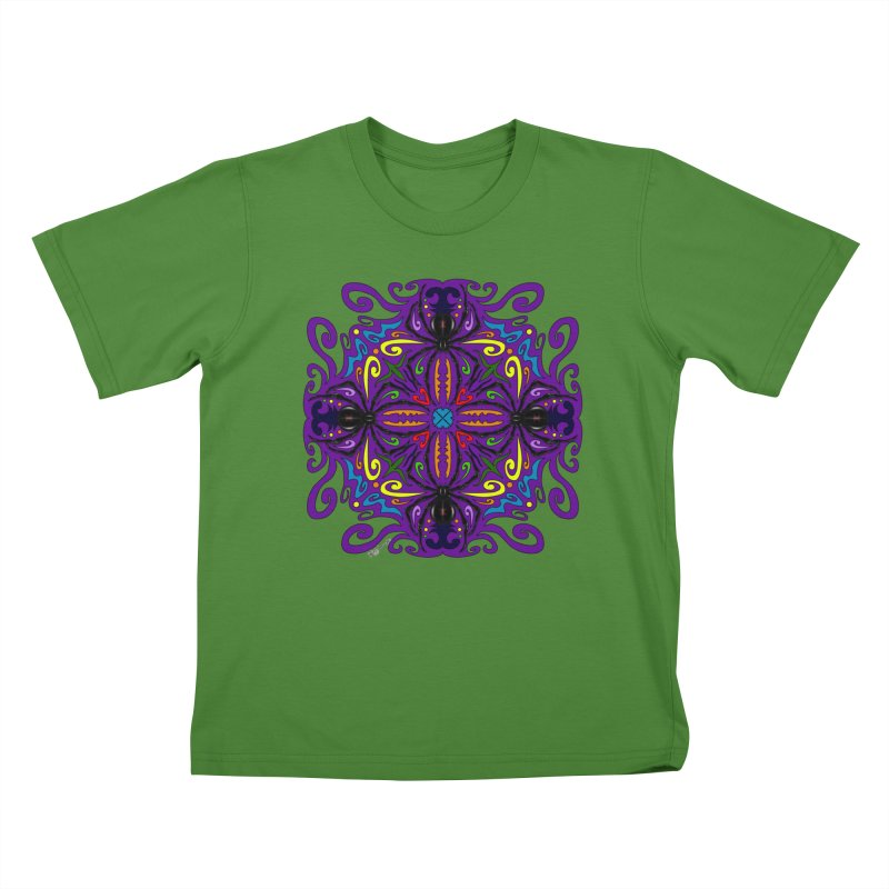Arachnophobia Kids T-Shirt by Magickal Vision: The Art of Jolie E. Bonnette