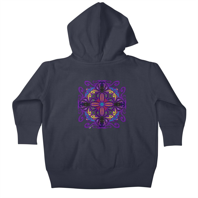 Arachnophobia Kids Baby Zip-Up Hoody by Magickal Vision: The Art of Jolie E. Bonnette