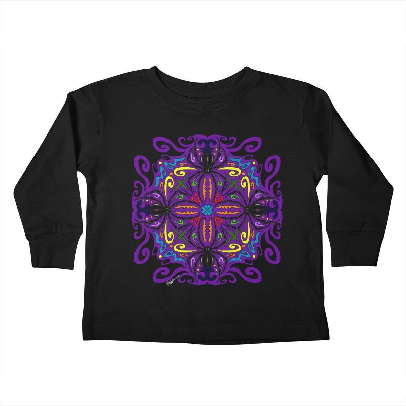 Arachnophobia Kids Toddler Longsleeve T-Shirt by Magickal Vision: The Art of Jolie E. Bonnette