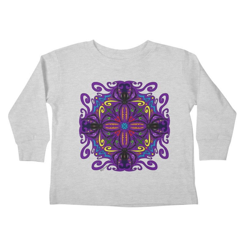 Arachnophobia Kids Toddler Longsleeve T-Shirt by Magickal Vision: The Art of Jolie E. Bonnette