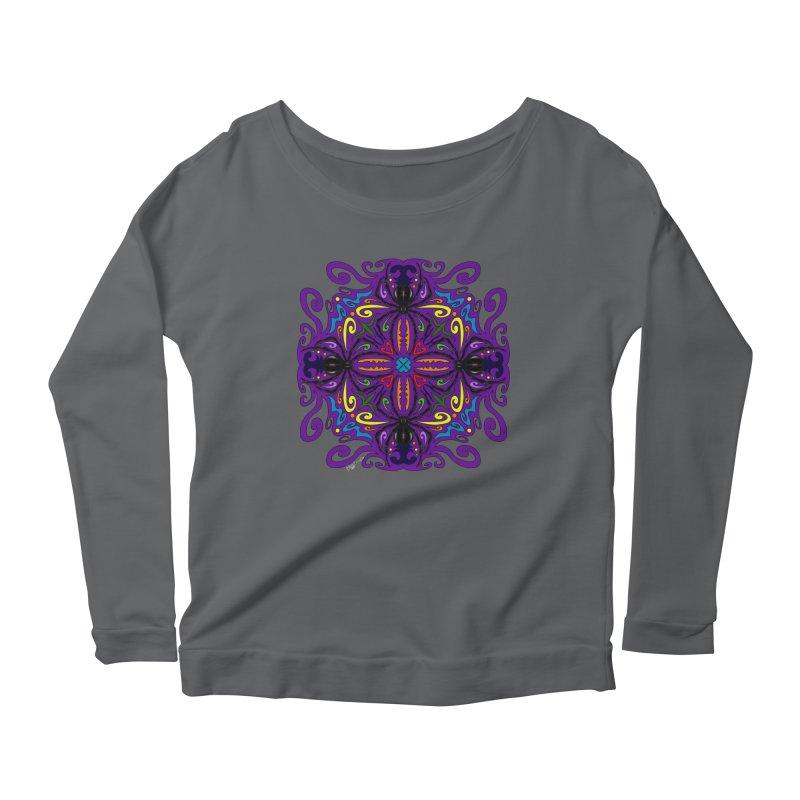 Arachnophobia Women's Scoop Neck Longsleeve T-Shirt by Magickal Vision: The Art of Jolie E. Bonnette