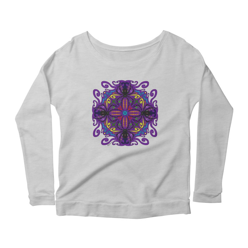 Arachnophobia Women's Longsleeve Scoopneck  by Magickal Vision: The Art of Jolie E. Bonnette