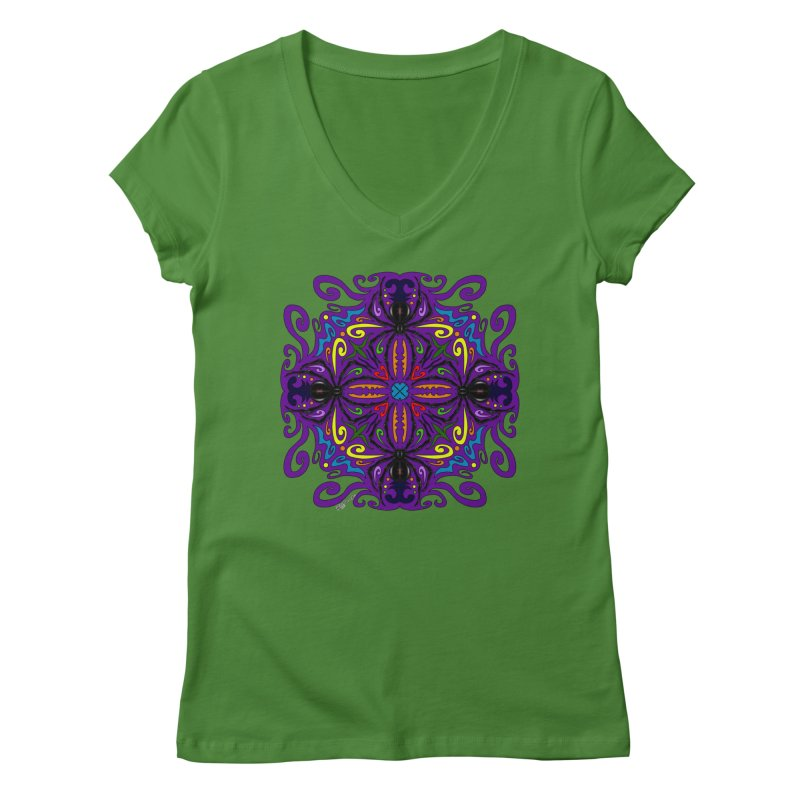 Arachnophobia Women's V-Neck by Magickal Vision: The Art of Jolie E. Bonnette