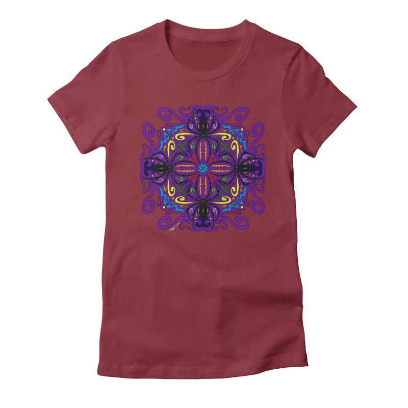 Arachnophobia Women's Fitted T-Shirt by Magickal Vision: The Art of Jolie E. Bonnette
