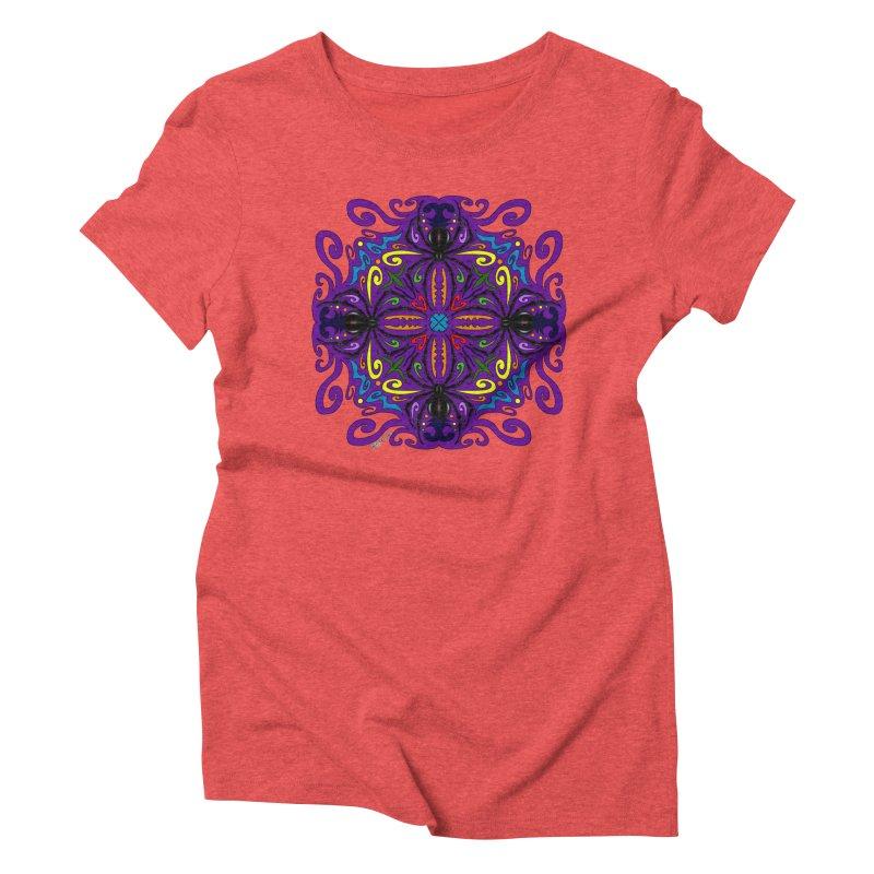 Arachnophobia Women's Triblend T-Shirt by Magickal Vision: The Art of Jolie E. Bonnette