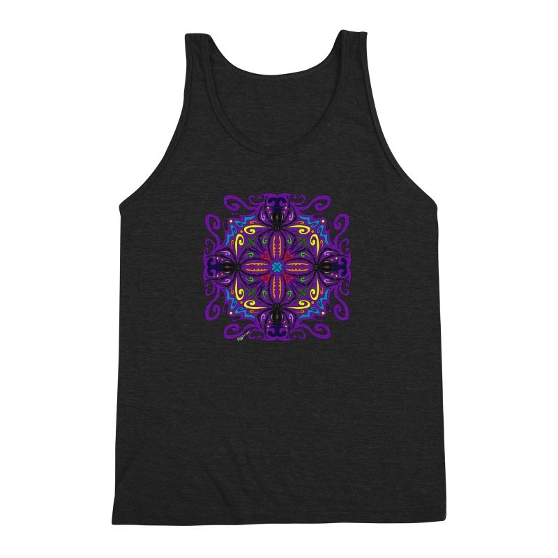 Arachnophobia Men's Triblend Tank by Magickal Vision: The Art of Jolie E. Bonnette