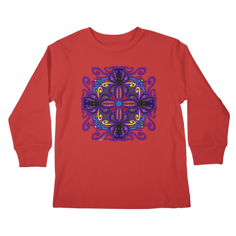 Arachnophobia Kids Longsleeve T-Shirt by Magickal Vision: The Art of Jolie E. Bonnette