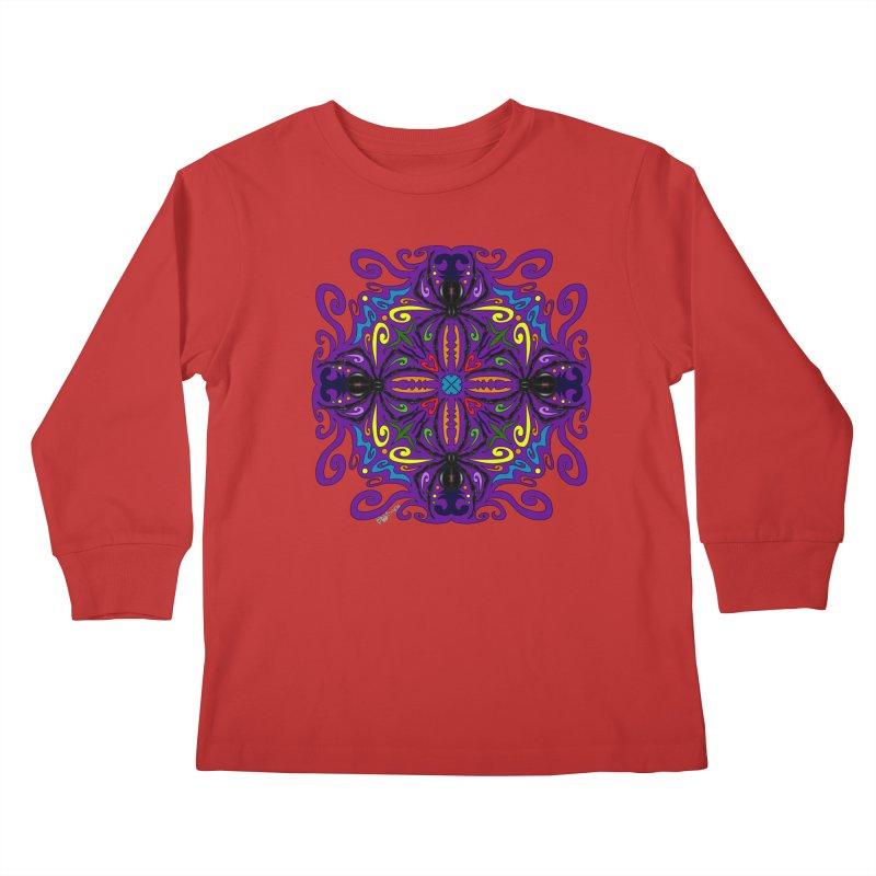 Arachnophobia Kids Longsleeve T-Shirt by Magickal Vision: The Art of Jolie E. Bonnette