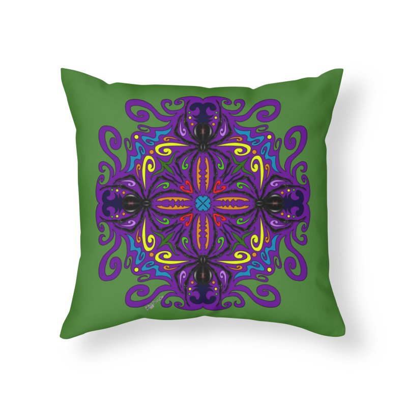 Arachnophobia Home Throw Pillow by Magickal Vision: The Art of Jolie E. Bonnette