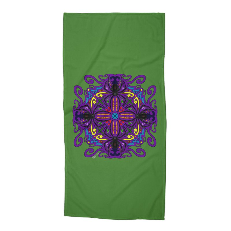 Arachnophobia Accessories Beach Towel by Magickal Vision: The Art of Jolie E. Bonnette